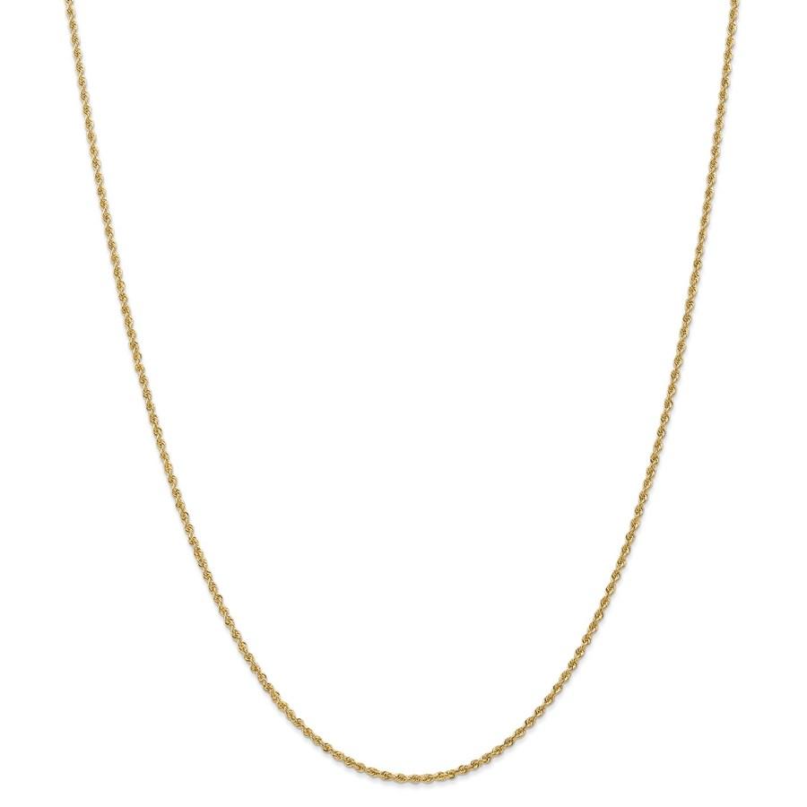 14k Yellow Gold 1.5 mm Regular Rope Chain - 28 in.