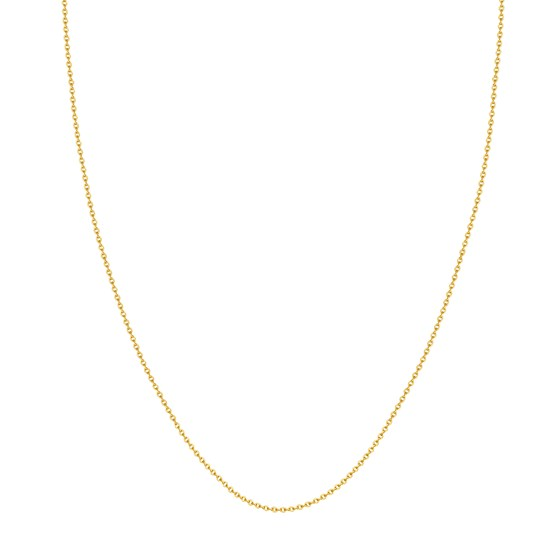 14K Yellow Gold 1.50mm Cable Chain with Lobster Clasp - 16 in