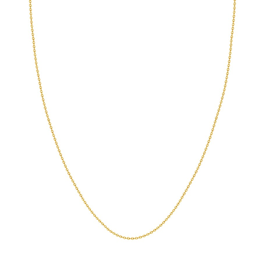 14K Yellow Gold 1.50mm Cable Chain with Lobster Clasp - 20 in
