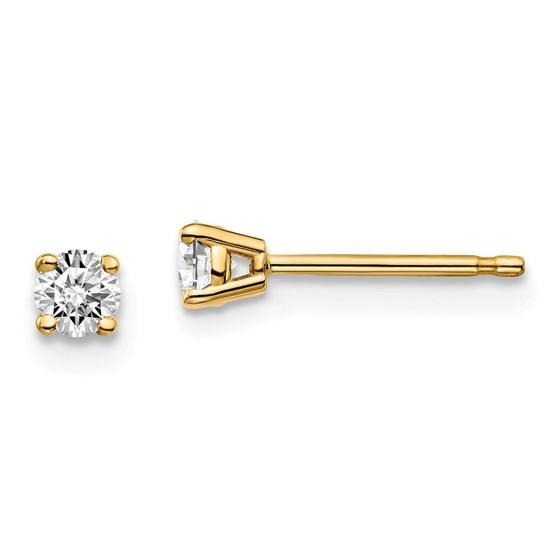 14k Yellow Gold 1/5ct Lab Grown Diamond 4-Prong Earring