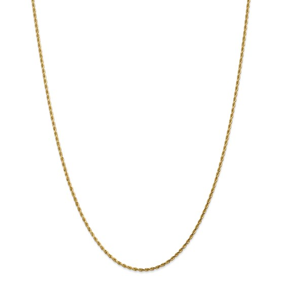 14k Yellow Gold 1.75 mm Diamond Cut Rope Chain - 26 in.