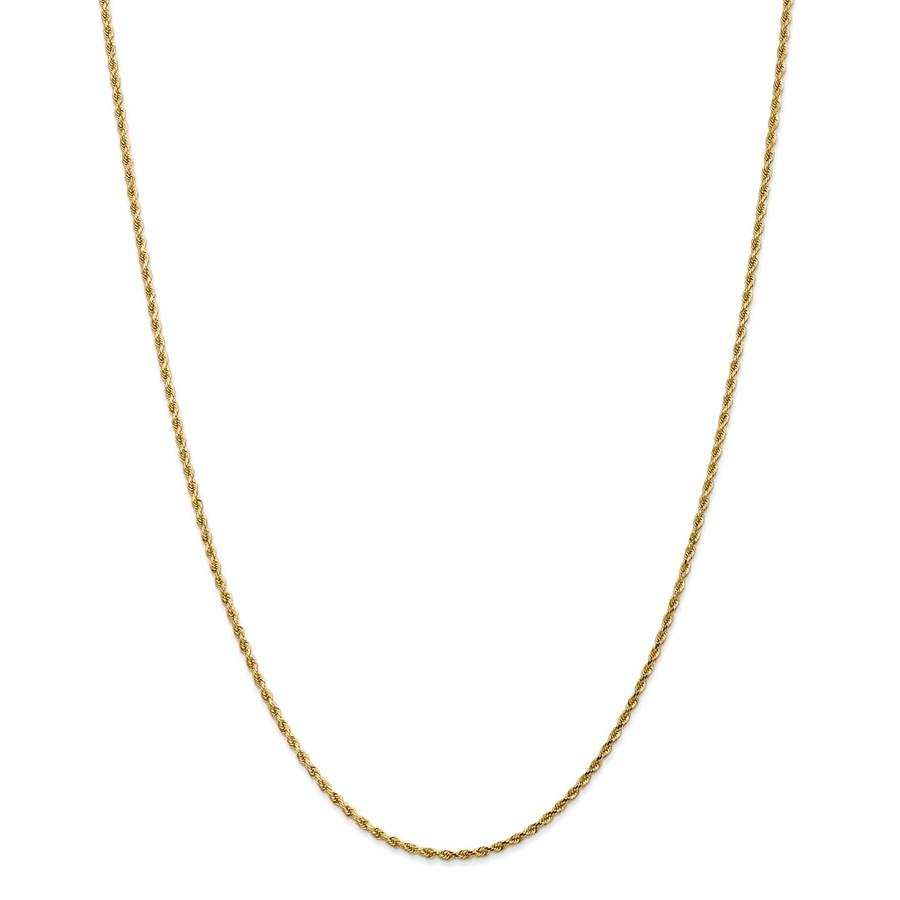 14k Yellow Gold 1.75 mm Diamond Cut Rope Chain - 28 in.