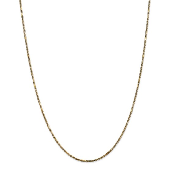 14k Yellow Gold 1.8 mm Milano Rope Chain - 22 in.