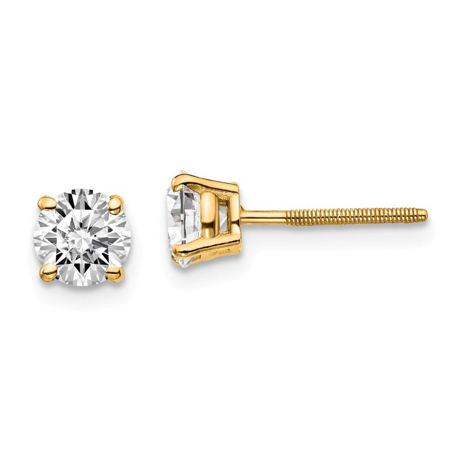 14k Yellow Gold 1ct Lab Grown Diamond Earring