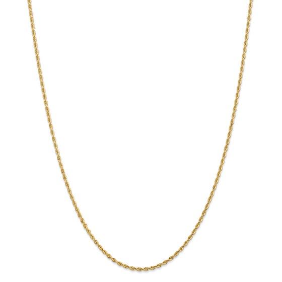 14k Yellow Gold 2.00 mm Diamond Cut Quadruple Rope Chain - 26 in.