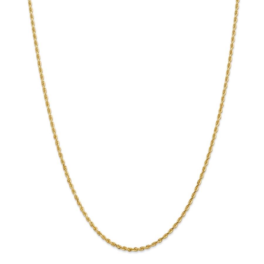 14k Yellow Gold 2.25 mm Diamond Cut Quadruple Rope Chain - 26 in.