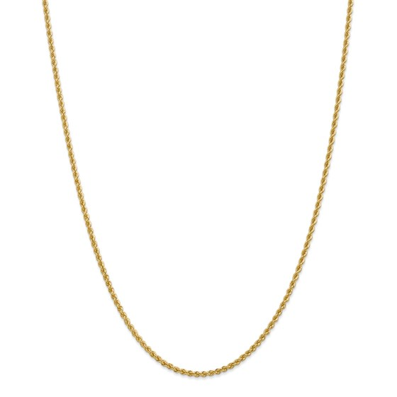 14k Yellow Gold 2.25 mm Regular Rope Chain - 26 in.