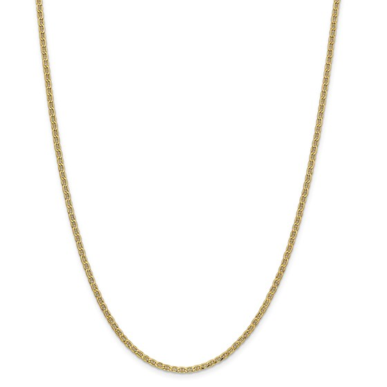 14k Yellow Gold 2.40 mm Semi-Solid Anchor Chain Necklace - 20 in.