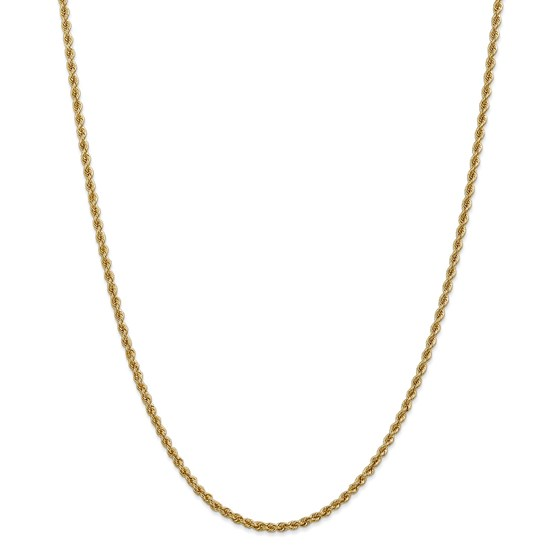 14k Yellow Gold 2.5 mm Regular Rope Chain - 28 in.