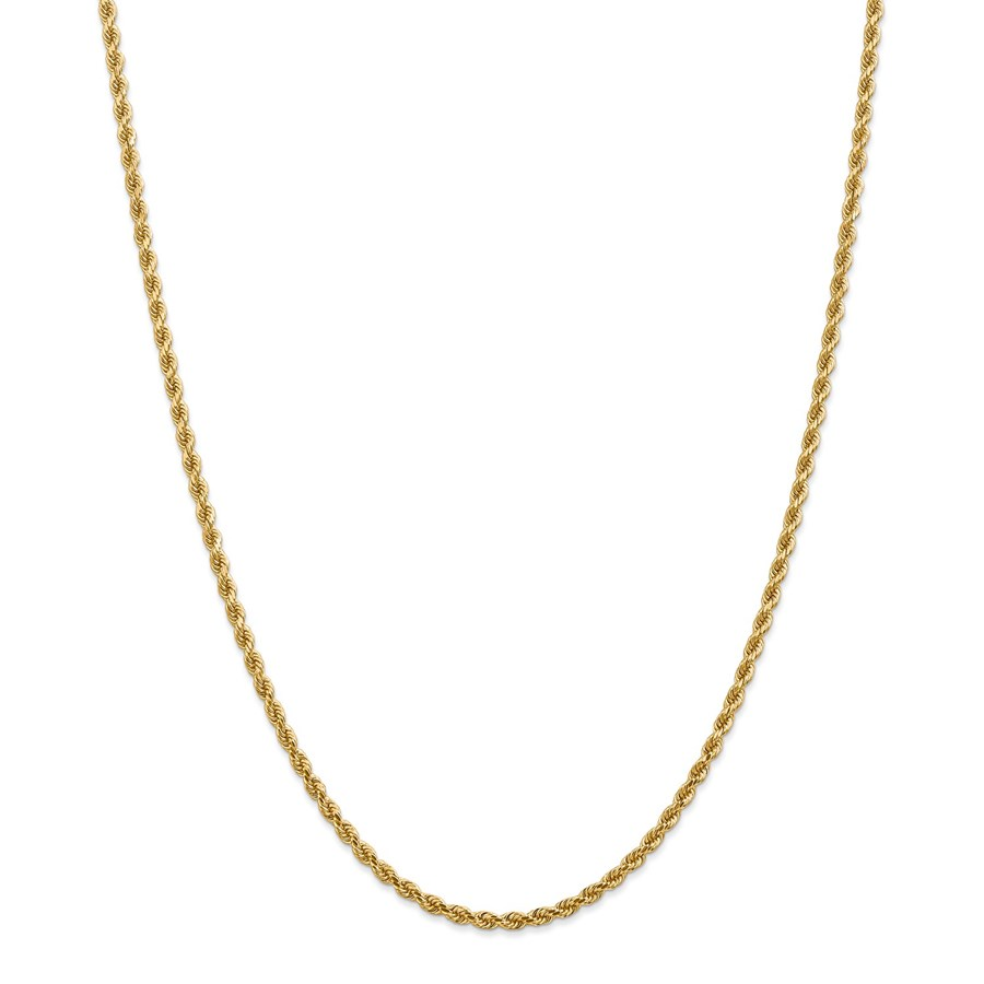 14k Yellow Gold 2.75 mm Diamond-cut Rope Chain - 28 in.