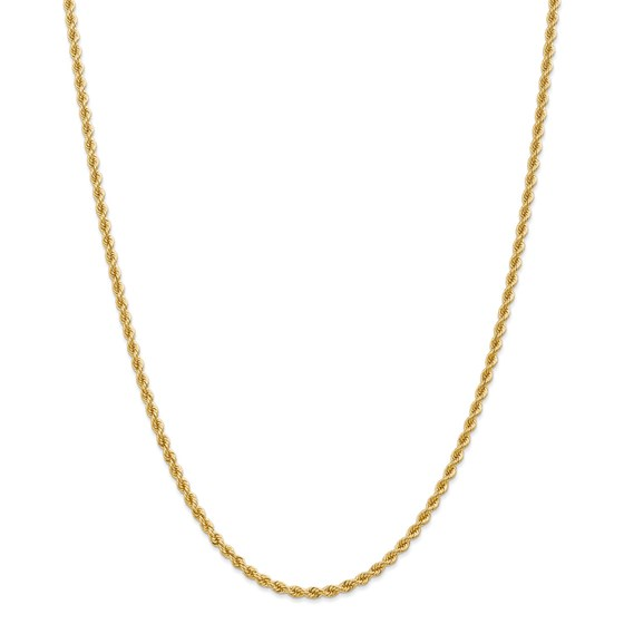14k Yellow Gold 2.75 mm Regular Rope Chain - 28 in.