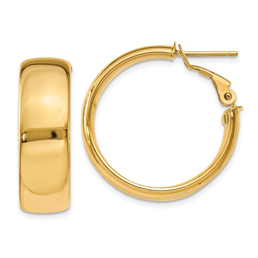 14k Yellow Gold 25 mm Hoop Earrings