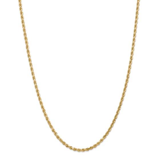 14k Yellow Gold 3.20 mm Diamond Cut Rope Chain - 28 in.