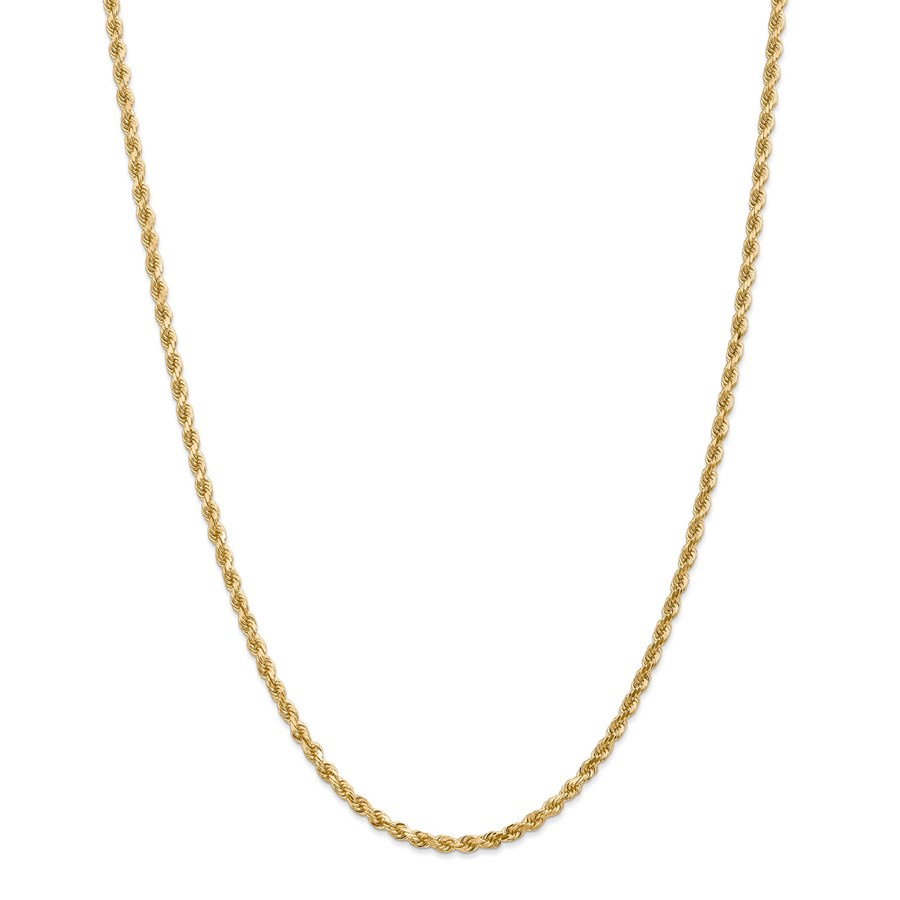14k Yellow Gold 3.20 mm Diamond Cut Rope Chain - 36 in.