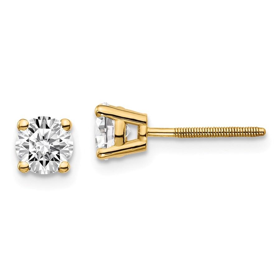 14k Yellow Gold 3/4ct Cert. Lab Grown Diamond Earring