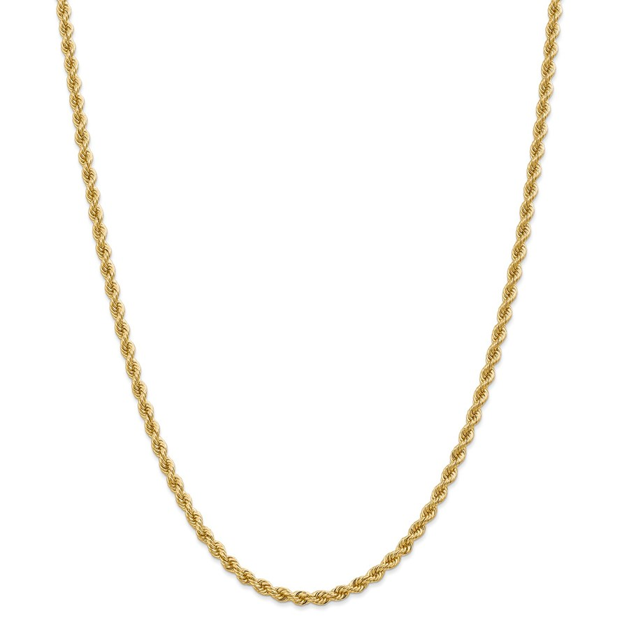 14k Yellow Gold 3.65 mm Regular Rope Chain - 28 in.