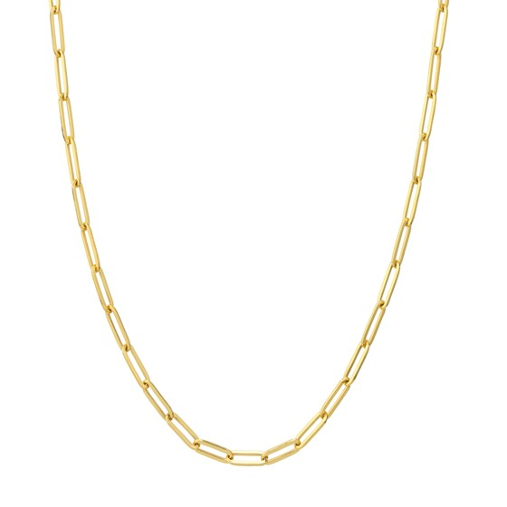 14K Yellow Gold 3.85mm Paperclip Chain - 18 in.