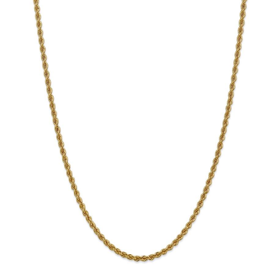 14k Yellow Gold 3 mm Regular Rope Chain - 28 in.