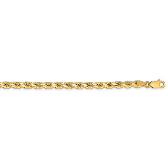 14k Yellow Gold 4.25 mm Diamond Cut Rope Chain - 18 in.