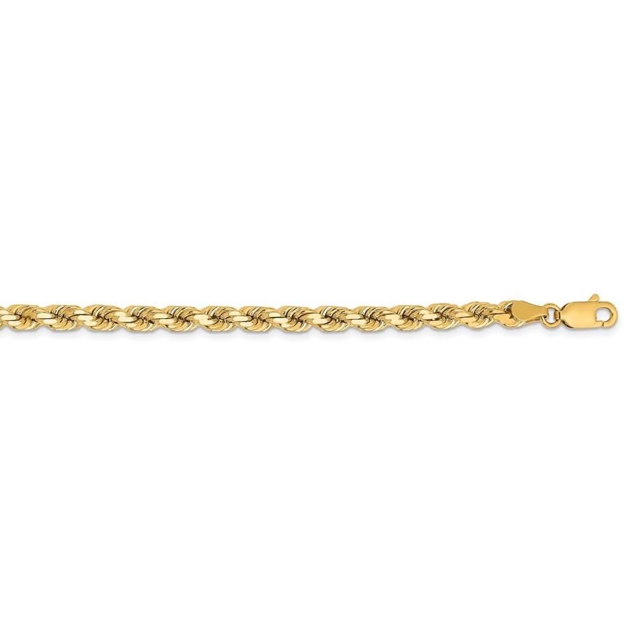 14k Yellow Gold 4.25 mm Diamond Cut Rope Chain - 22 in.
