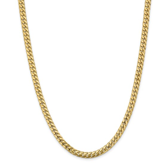 14k Yellow Gold 5.5 mm Solid Miami Cuban Chain - 22 in.