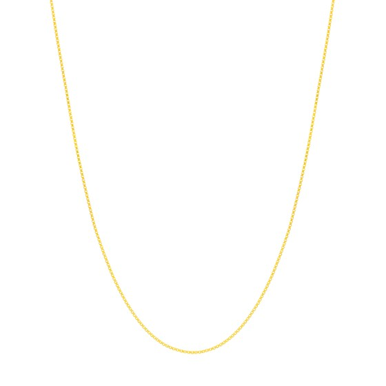 14K Yellow Gold .55mm Box Chain with 5.0mm Spring Ring - 18 in.