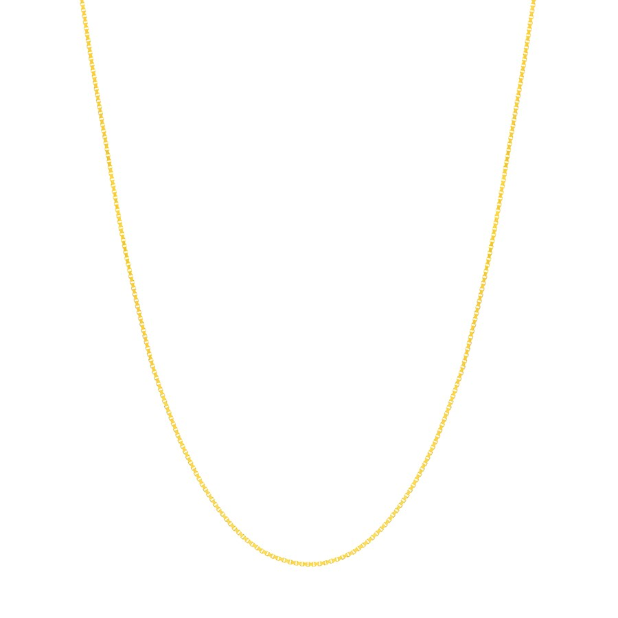 14K Yellow Gold .55mm Box Chain with 5.0mm Spring Ring - 24 in.