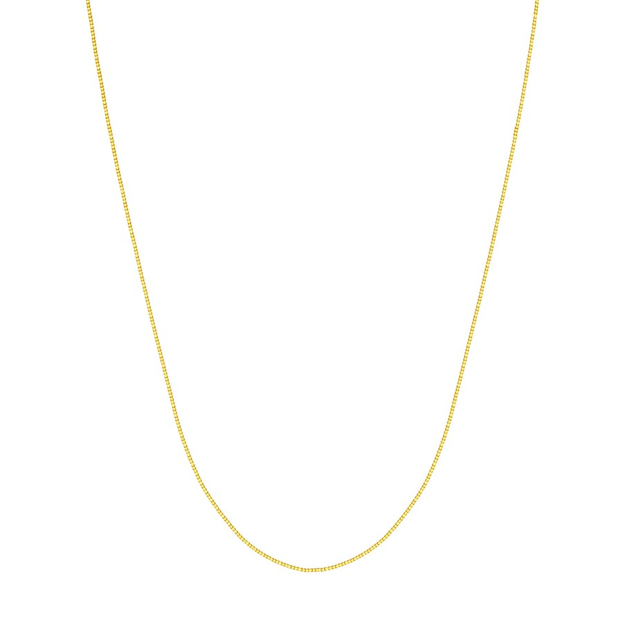 14K Yellow Gold .55mm Box Chain with Lobster Clasp - 18 in.