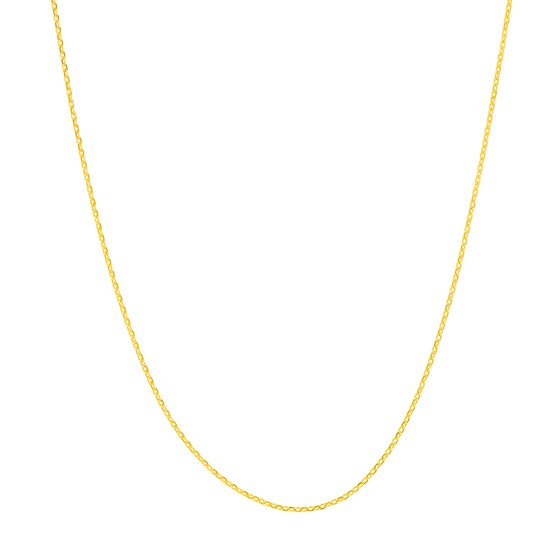 14K Yellow Gold .65mm D/C Cable Chain - 16 in.