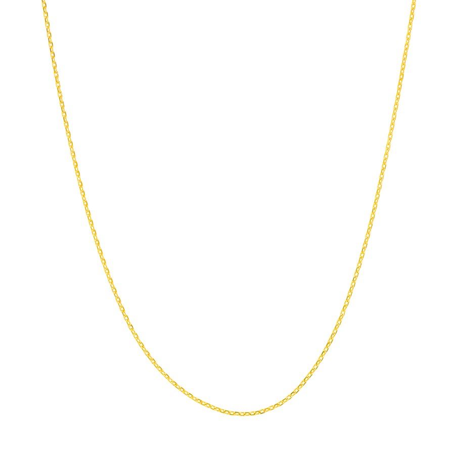 14K Yellow Gold .65mm D/C Cable Chain - 18 in.
