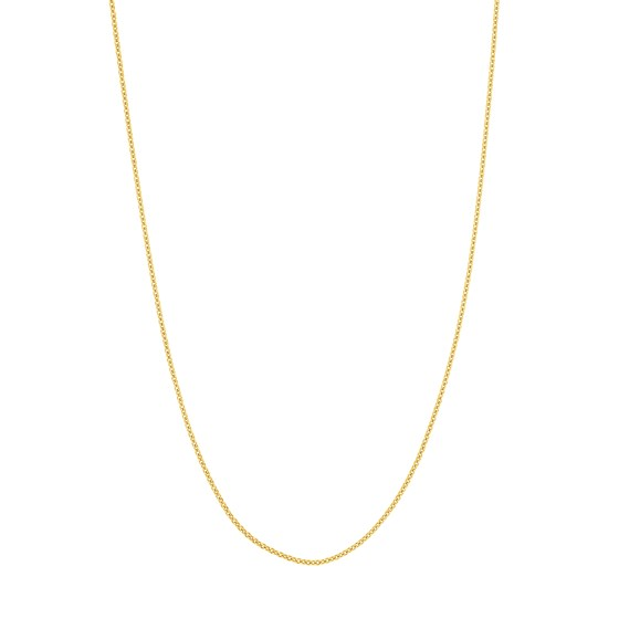 14K Yellow Gold .66mm Box Chain with Lobster Clasp - 16 in.