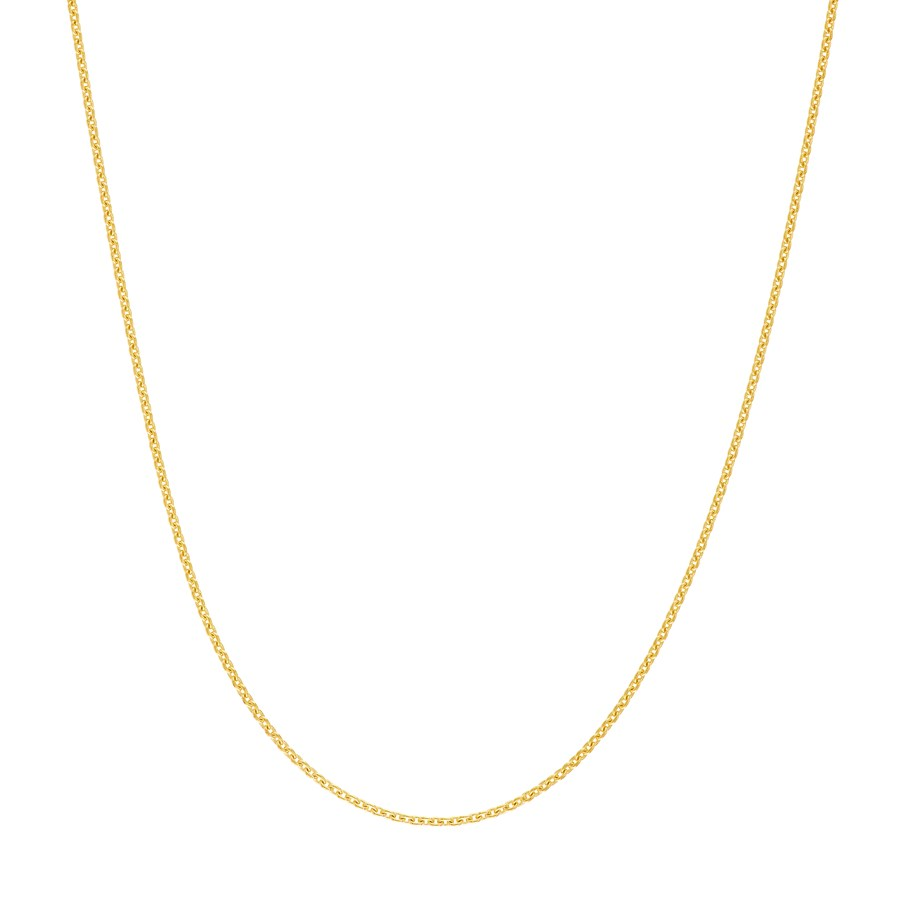 14K Yellow Gold .7 mm Cable Chain with Spring Ring - 18 in.