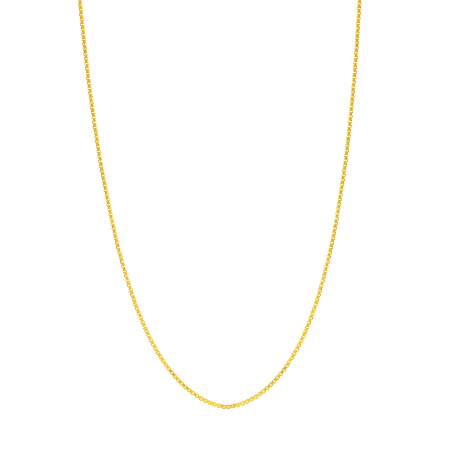 14K Yellow Gold .73mm Box Chain with Lobster Clasp - 20 in.