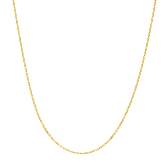 14K Yellow Gold .7mm Cable Chain with Spring Ring - 16 in.