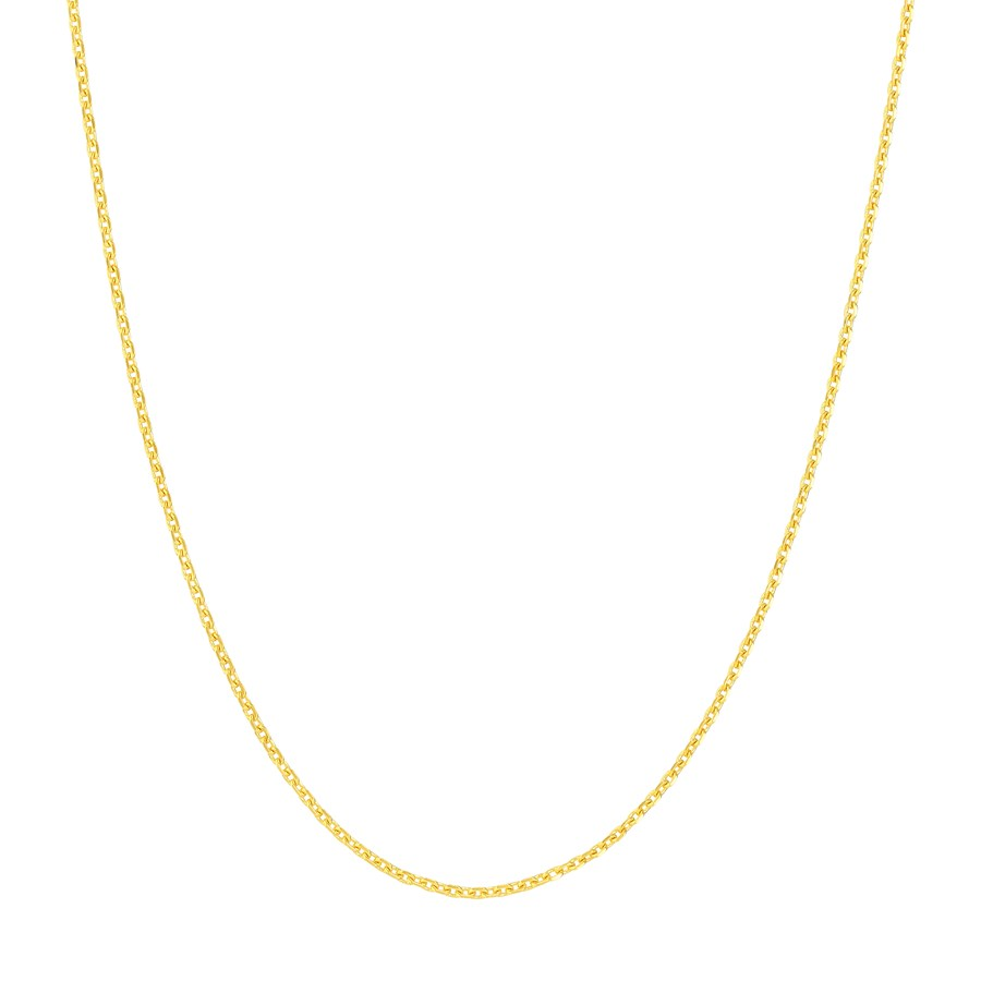 14K Yellow Gold .8mm D/C Cable Chain - 18 in.
