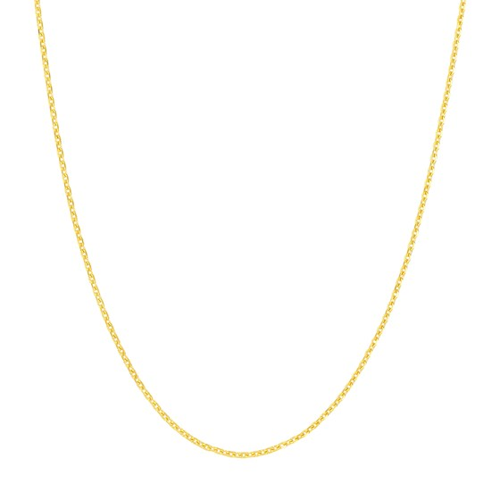 14K Yellow Gold .8mm D/C Cable Chain - 20 in.