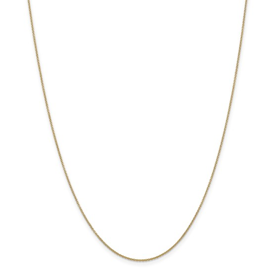 14k Yellow Gold .9 mm Cable Chain Necklace - 20 in.