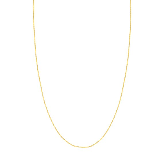 14K Yellow Gold .96mm Box Chain with Lobster Clasp - 20 in.