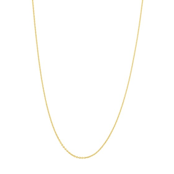 14K Yellow Gold .9mm Cable Chain with Lobster Clasp - 20 in.