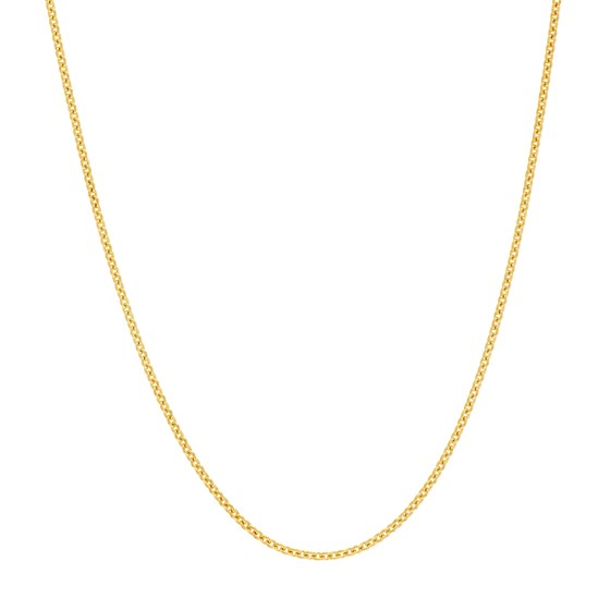 14K Yellow Gold .9mm Tight Cable Chain - 16 in.