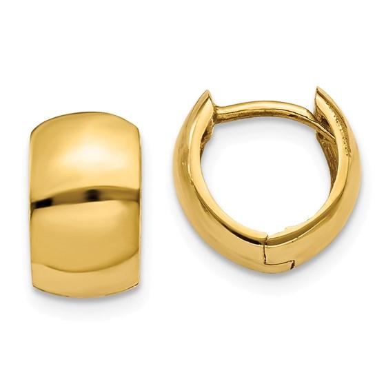 14k Yellow Gold Hinged Hoop Earrings