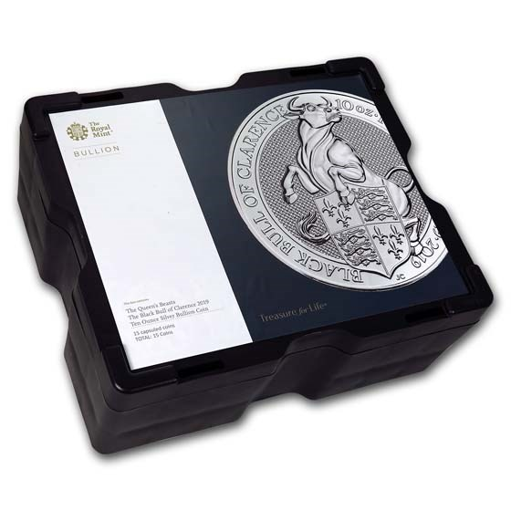 15-Coin 10 oz Silver Bull Monster Box (Empty, Black)