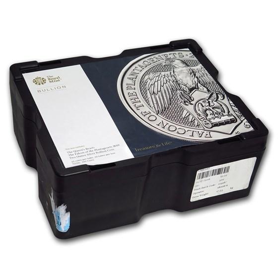 15-Coin 10 oz Silver Falcon Monster Box (Empty, Black)