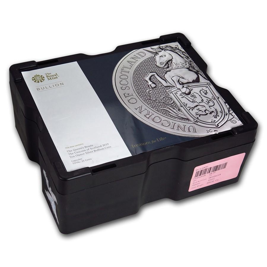 15-Coin 10 oz Silver Unicorn Monster Box (Empty, Black)