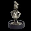150 gram Silver Donald Duck Miniature Statue