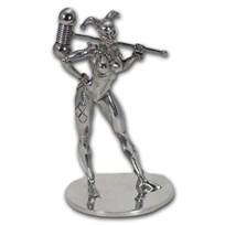 150 gram Silver Harley Quinn Miniature Statue