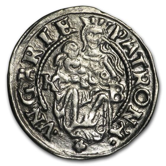 1500s-1600s KB Hungary Silver Denar XF NGC (Random)