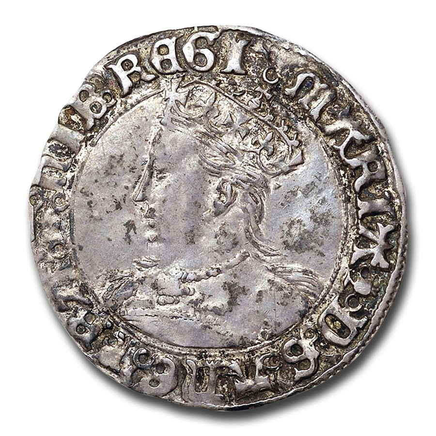1553-1554 Great Britain Silver Groat Mary AU-50 NGC