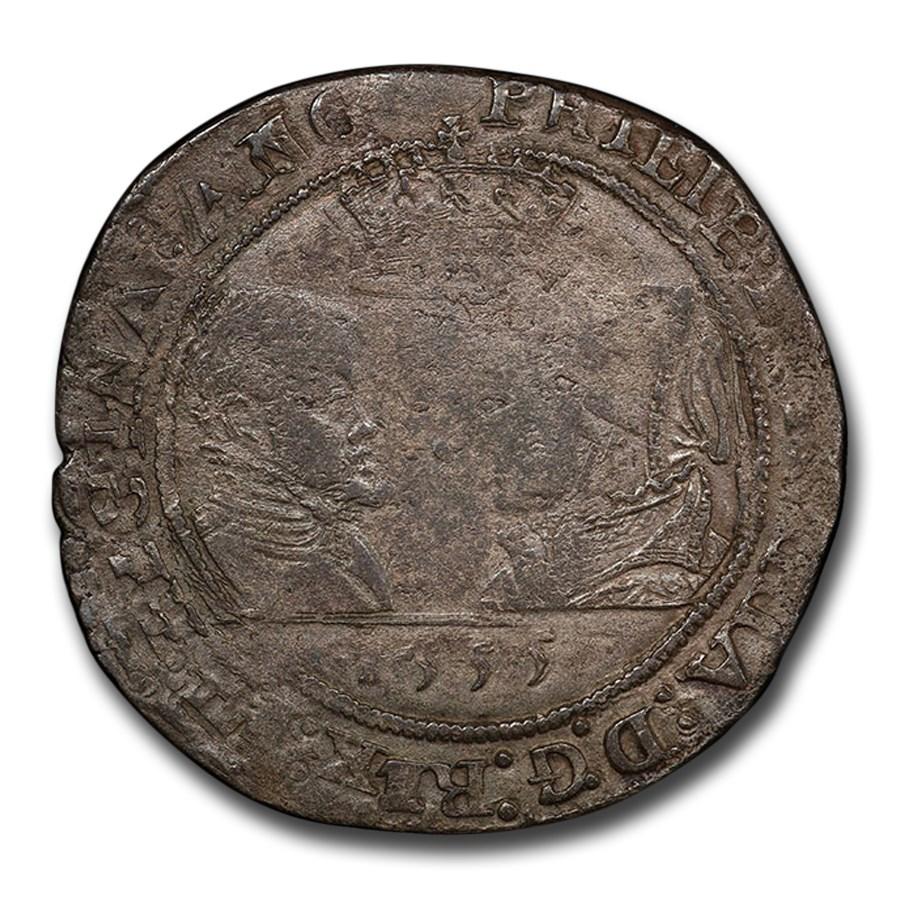 1555 Ireland Silver Shilling Philip & Mary VF-20 PCGS