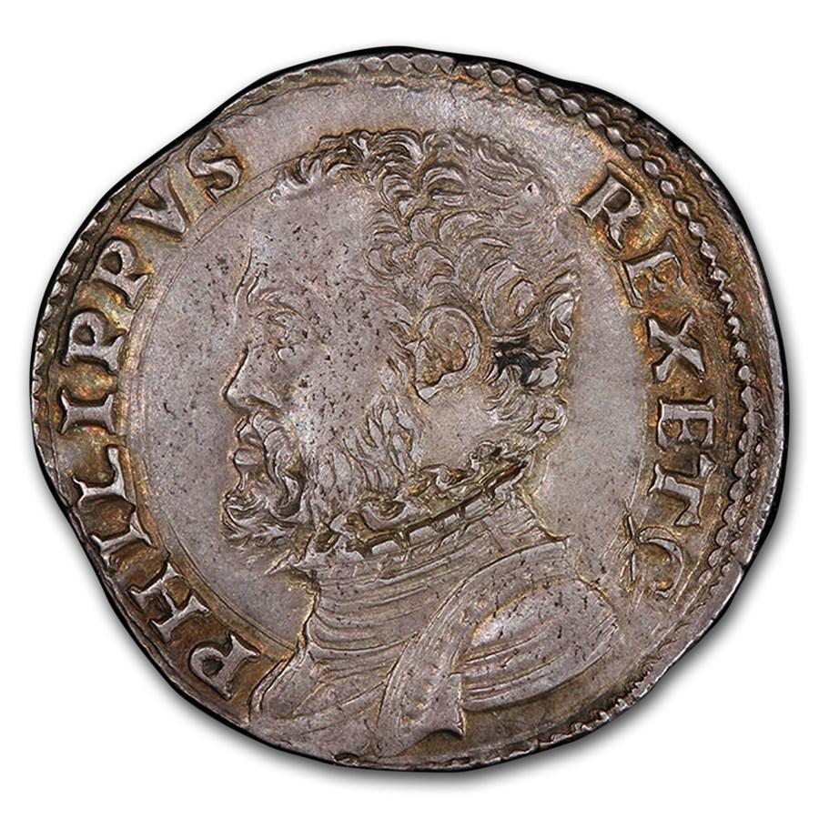 (1556-1598) Italian States Milan Silver 20 Soldi MS-62 PCGS